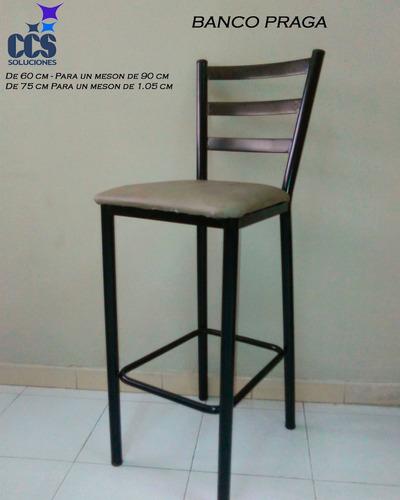 sillas, banco, taburete y silla alta en hierro en venezuela