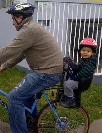 Sillas asientos porta bebes y ni os para bicicleta nuevas s 180 00 en mercado libre - Silla bebe bicicleta delantera ...