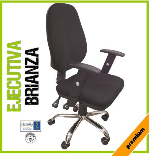 Sillas brianza ejecutivas tela mobiliario ergonomica bs for Silla ejecutiva ergonomica