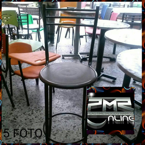 sillas butaco plastico alto para barra de restaurante bar ca