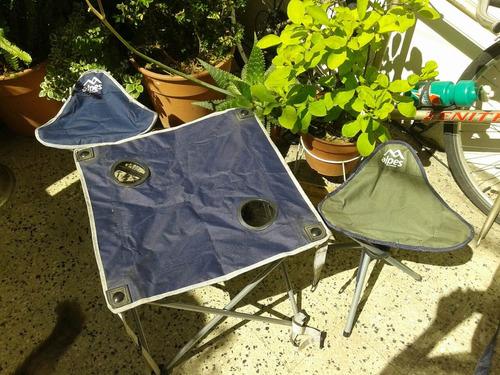 sillas camping mesa