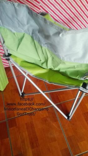 sillas camping plegables sin brazos.