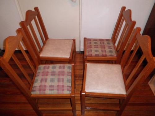 Sillas cerejeira tapizadas,2 pantaz. beige y 2 tela cuadros ...