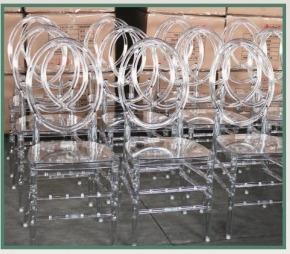 sillas chiavari blancas - transparentes - napoleón - phoenix