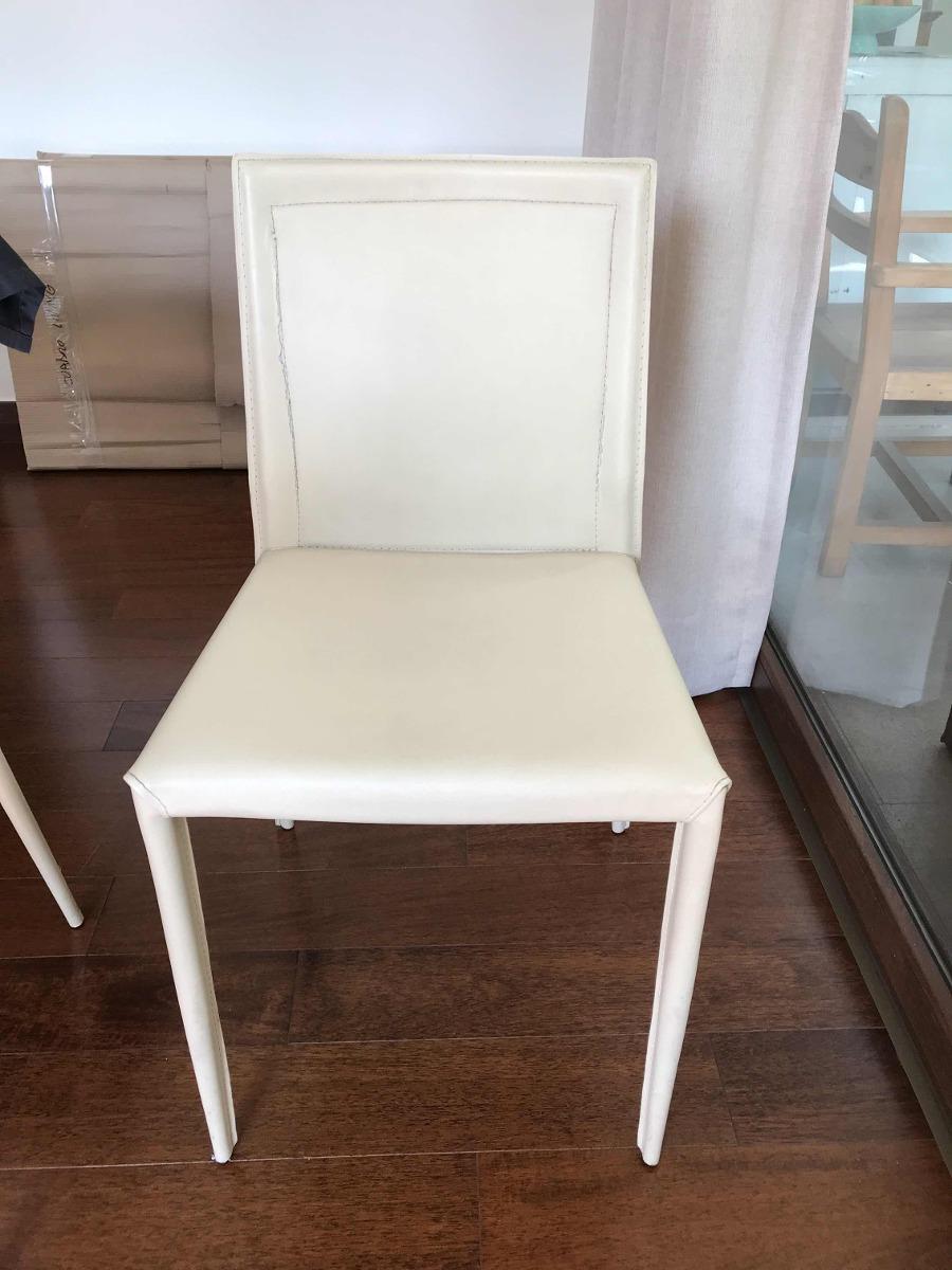 Sillas Comedor Cuero Muebles Sur (8) - $ 160.000 en Mercado Libre