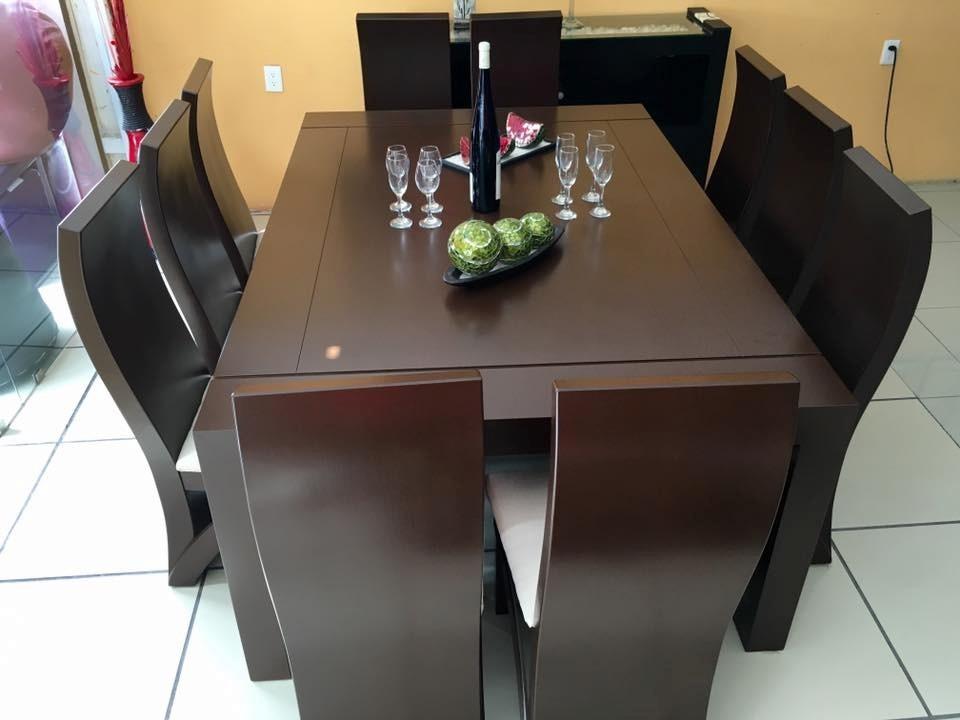 Comedor 10 sillas color nogal comedores moderno 28 599 for Comedor 10 sillas oferta
