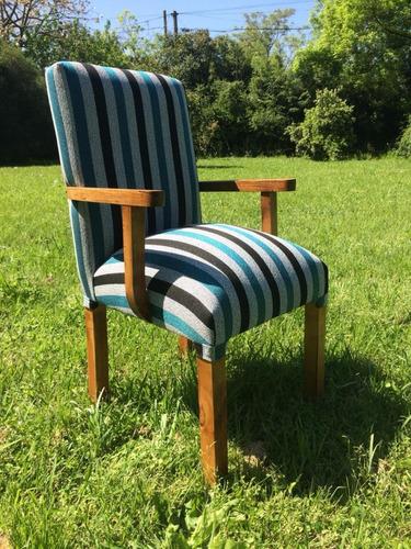 sillas con apoya brazos tapizadas vestidas en chenille