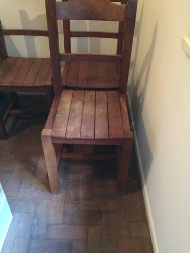 sillas de algarrobo. 4 unidades