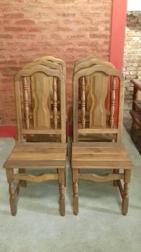 sillas de algarrobo x 6 unidades m formar : envió gratis