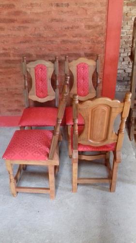 sillas  de algarrobo x 8 unidades