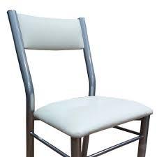 sillas de caño reforzada asiento y respaldo tapizado