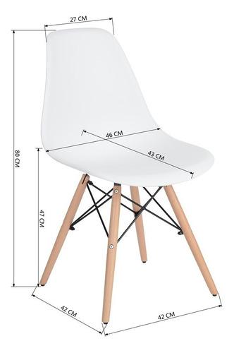 sillas de comedor eames set de 4 blanco