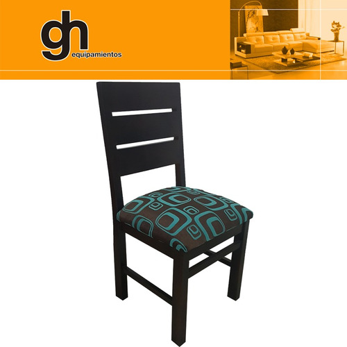 sillas de comedor en madera maciza pino eliotis tapizada gh