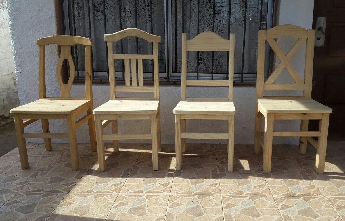Sillas de comedor madera varios modelos 950 00 en for Modelos de sillas para comedor