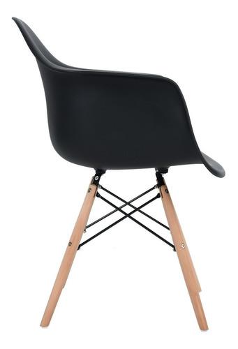sillas de comedor set de 2 con brazos kohler negro eames