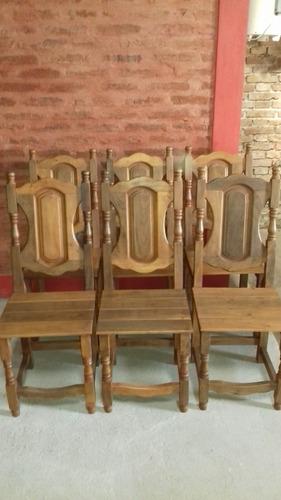 sillas de de algarrobo modelo estilo x6 unidades