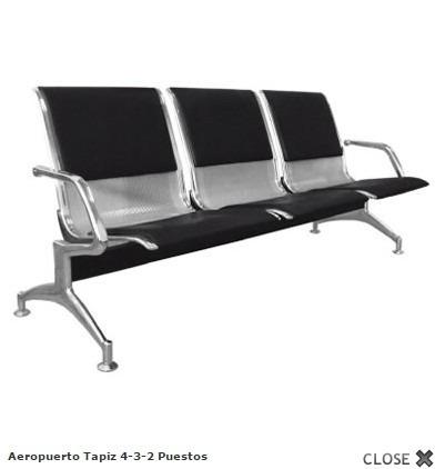 sillas de espera aeropuerto bi personal
