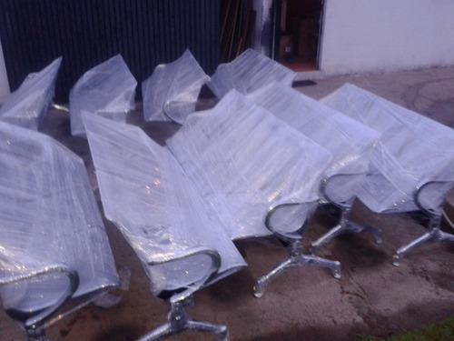 sillas de espera aeropuerto con tapiz muebles de oficina