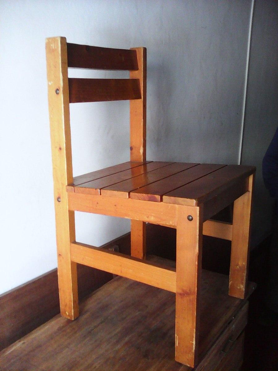 Sillas de madera desarmables buena madera for Sillas madera