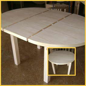 Mesa Comedor Redonda Segunda Mano - Muebles Antiguos en Mercado ...