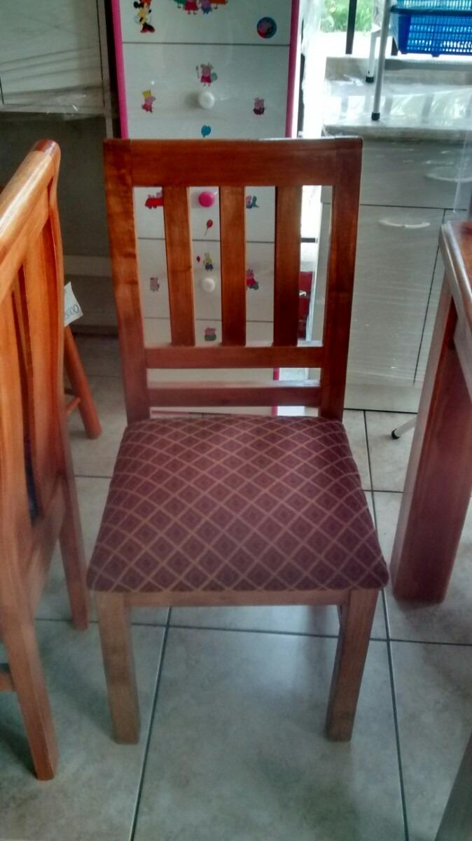 Sillas de madera para comedor 6 y 4 unidades despacho casa for Comedor de madera 6 sillas