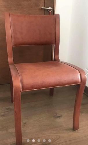 sillas de madera y cuero cmyd