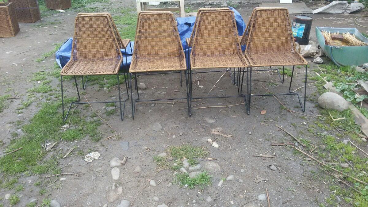 sillas de mimbre para comedor o terrazas