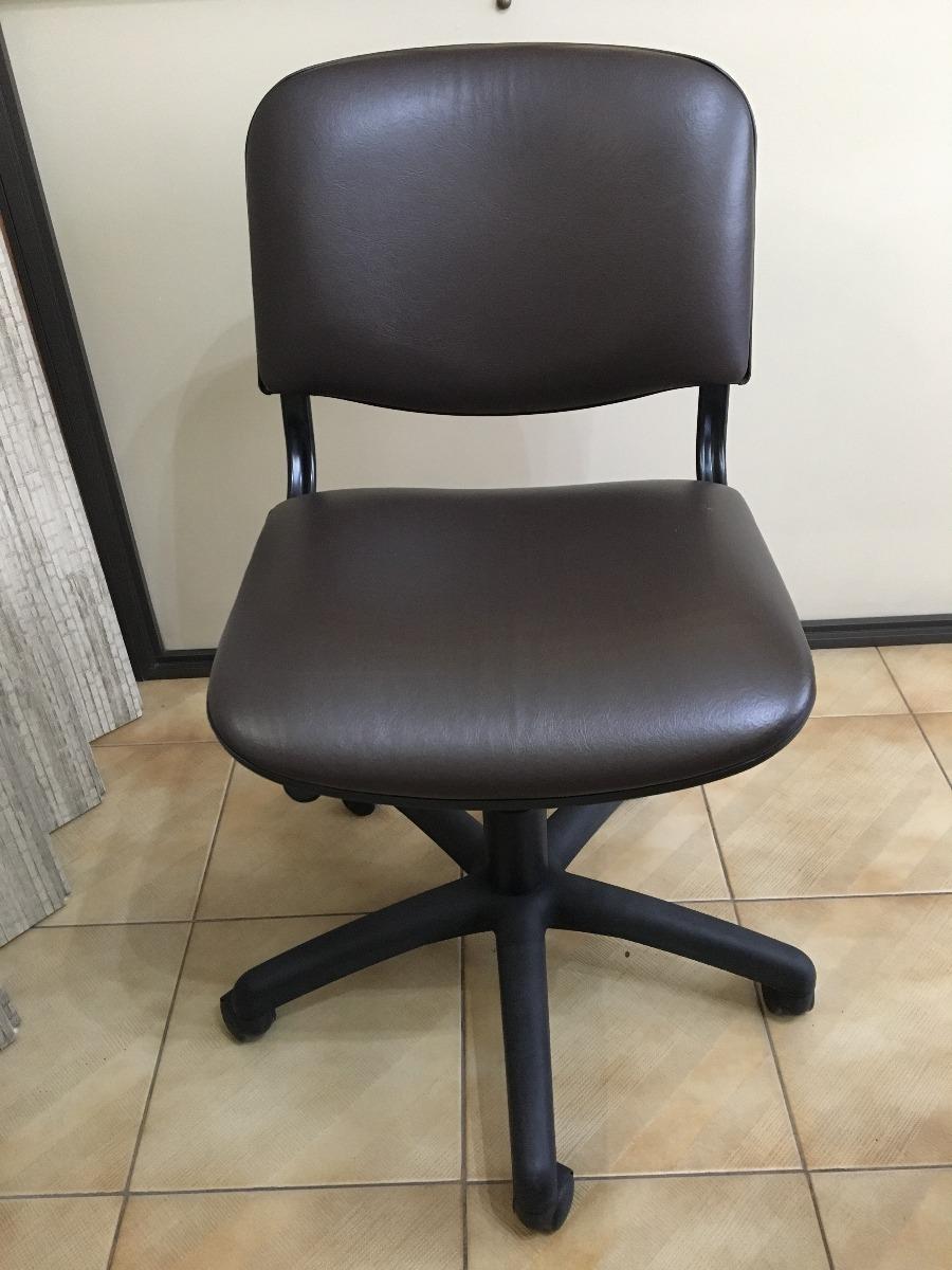 Sillas De Oficina Con Ruedas Y Tapizado Ecocuero - $ 3.000,00 en ...