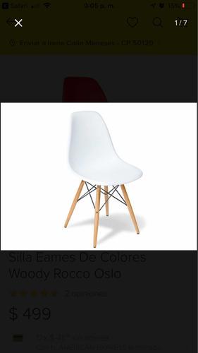 sillas diseñador colors patas madera