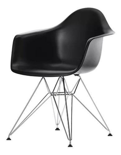 sillas eames con brazos negra comedor moderna metal envío gratis