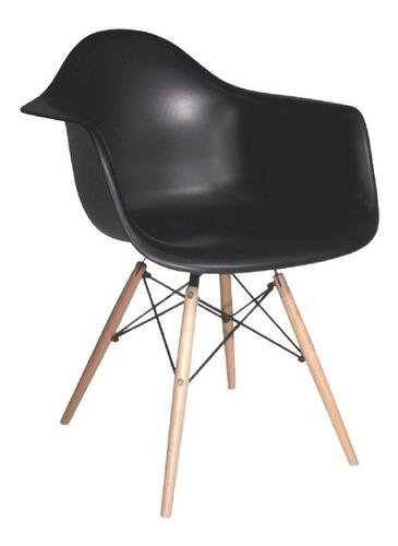 sillas eames daw butaca blanco / palo piña