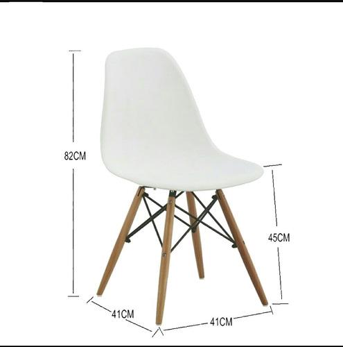 sillas eames dsw clasica / palo piña