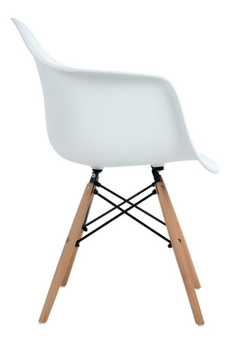 sillas eames set de 2 sillas de comedor con brazos kohler bl