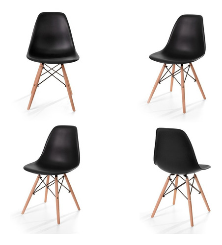 sillas eames silla minimalista moderna paquete de 4
