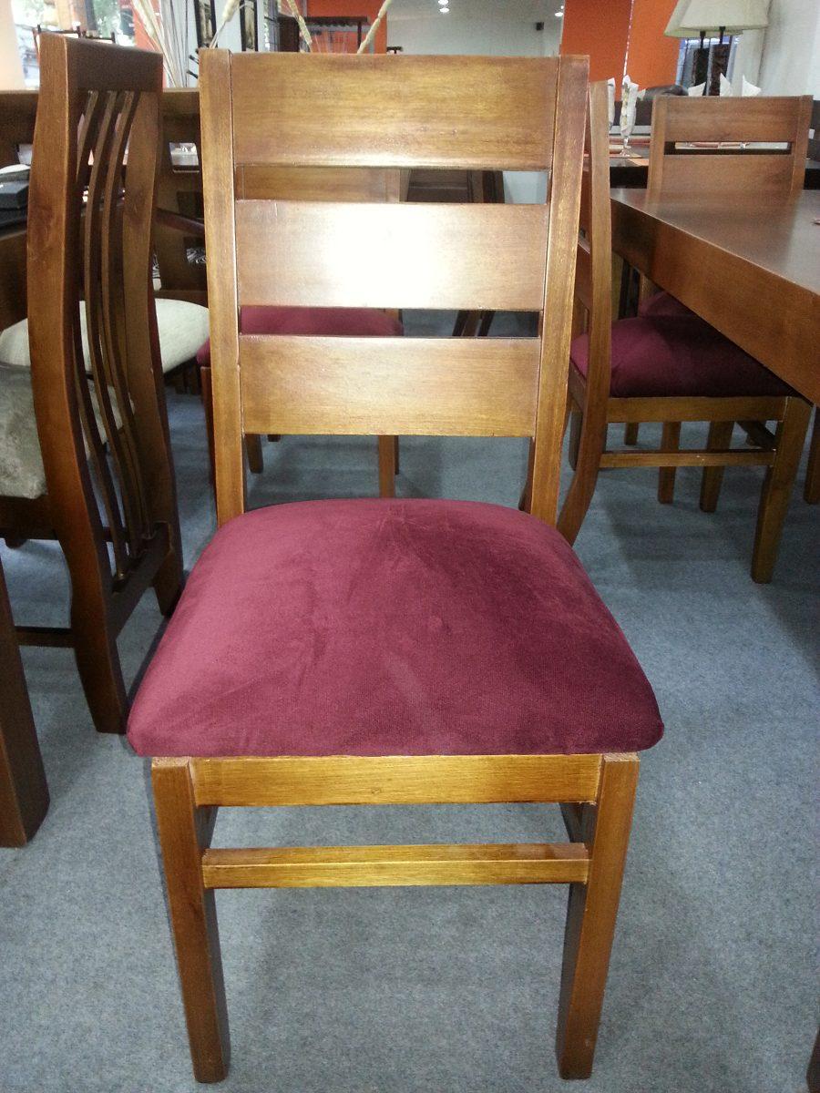 Sillas en eucaliptos tapizadas juego de comedor madera en mercado libre - Restaurar sillas de madera ...