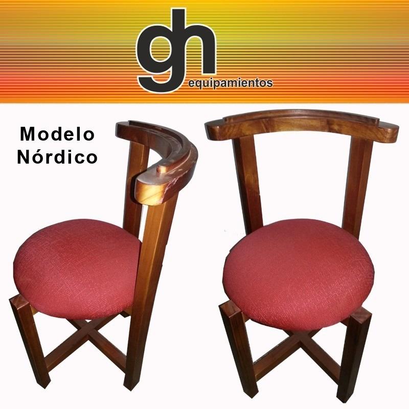 Sillas en madera tapizadas para cocina comedor sillones for Sillas tapizadas para comedor