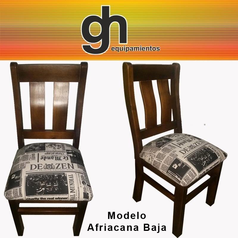 Sillas en madera tapizadas para cocina comedor sillones for Sillas de madera clasicas tapizadas