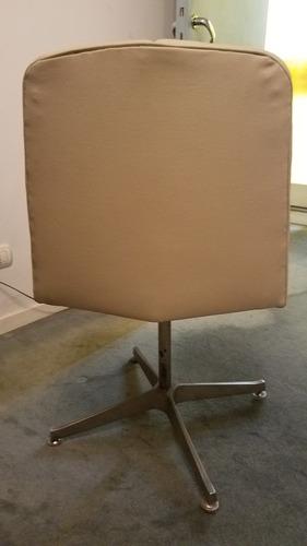 sillas escritorio giratorias decada 70.  retapizadas