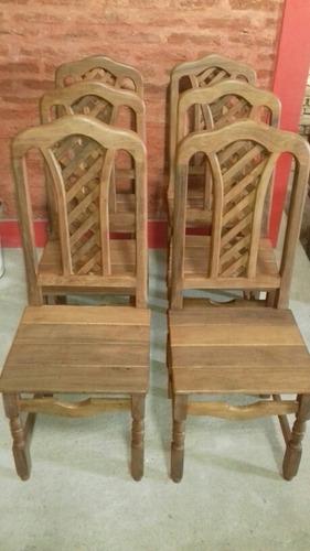 sillas esterilladas de algarrobo x 6 unidades