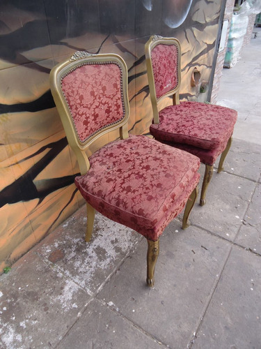 sillas francesas luis xv dormitorio talladas