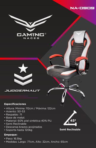 sillas gamer naceb gaming reforzada na-0909 jugguernaut