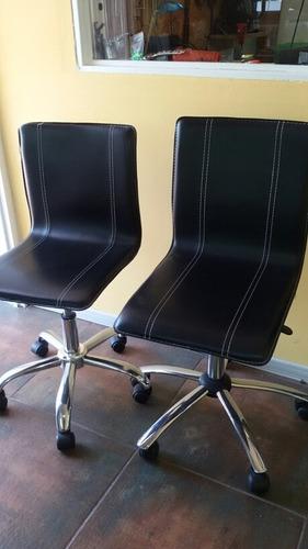 sillas giratorias regulables de escritorio x 2