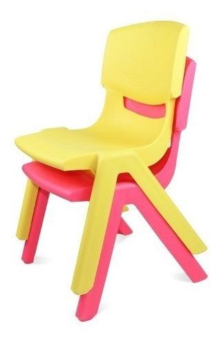 sillas infantiles para niños ideal jardines nuevas apilables