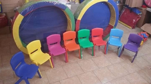sillas infantiles premium escolares apilables plástico 32x55