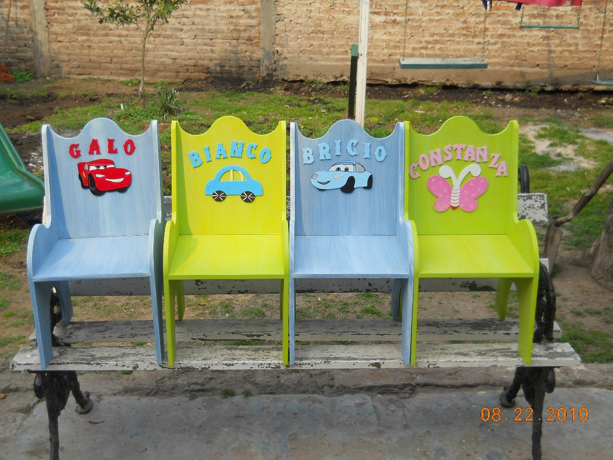 Sillas Madera Para Niños/as - $ 360,00 en Mercado Libre