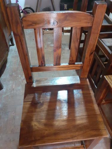 sillas madera pino laqueadas