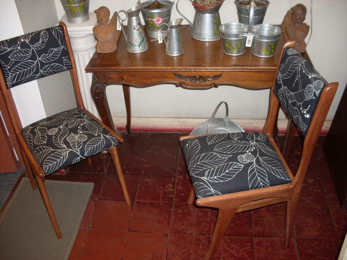Sillas Madera Tapiz Vintage - $ 58.000 en Mercado Libre