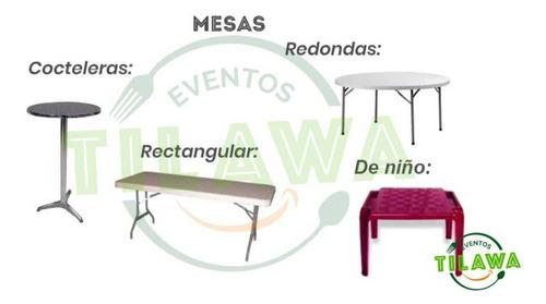 sillas mantelería alquiler mesas