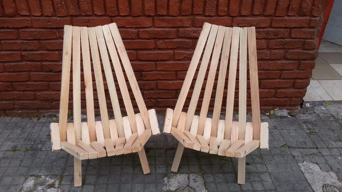 Sillas materas de madera plegable 470 00 en mercado libre for Sillas de madera comodas