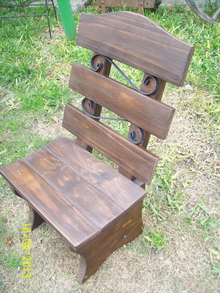 Sillas materas r sticas madera maciza en for Precio sillas madera